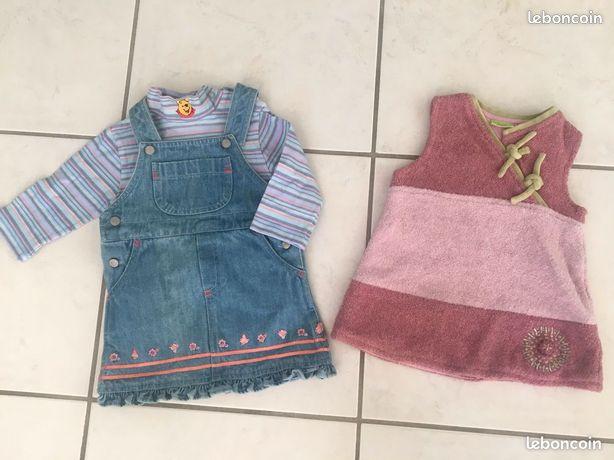Vêtements fille-6mois (automne/hiver)
