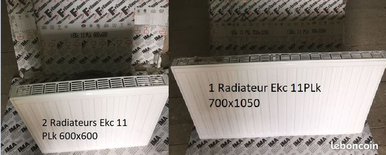 Lot de 3 radiateurs acier FERROTHERM