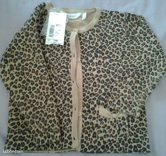 superbe gilet leopard neuf avec tiquette 2 ans 3 v tements b b bouches du rh ne. Black Bedroom Furniture Sets. Home Design Ideas