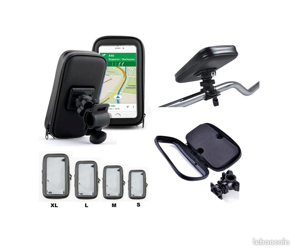 Support téléphone étanche et tactile pour guidon tube scooter moto vélo trottinette quad