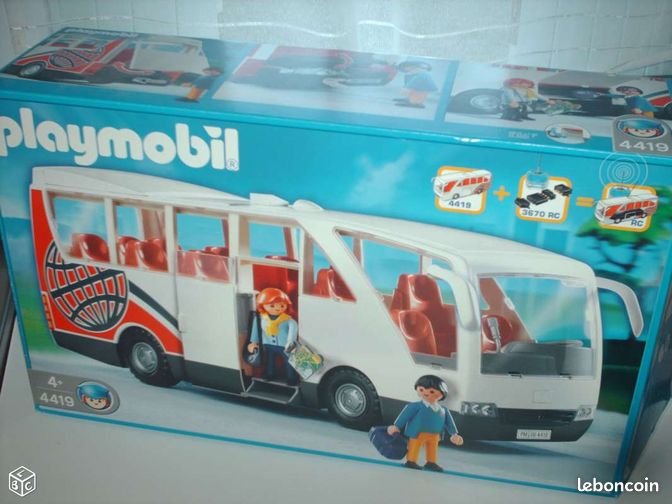 Playmobil autocar excursion 4119 city boite jeux - Autocar playmobil ...