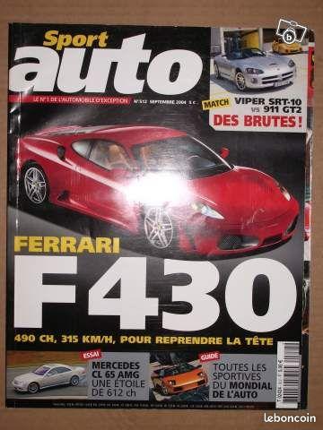 Sport auto n 512 septembre 2004 - Grasse - SPORT AUTO N 512 SEPTEMBRE 2004 POSSIBILITE D'ENVOYER LE SPORT AUTO A L'ACHETEUR PAR LA POSTE  - Grasse