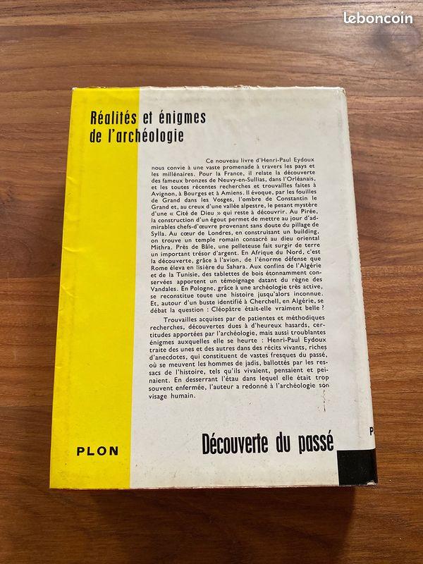 Réalités et énigmes de l'archéologie - henri-paul eydoux - exemplaire dédicacé