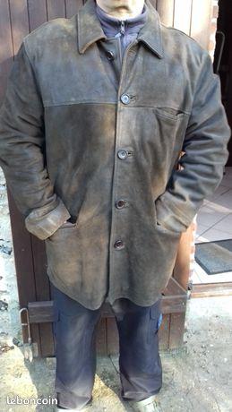 Veste Cuir marron Taille XL