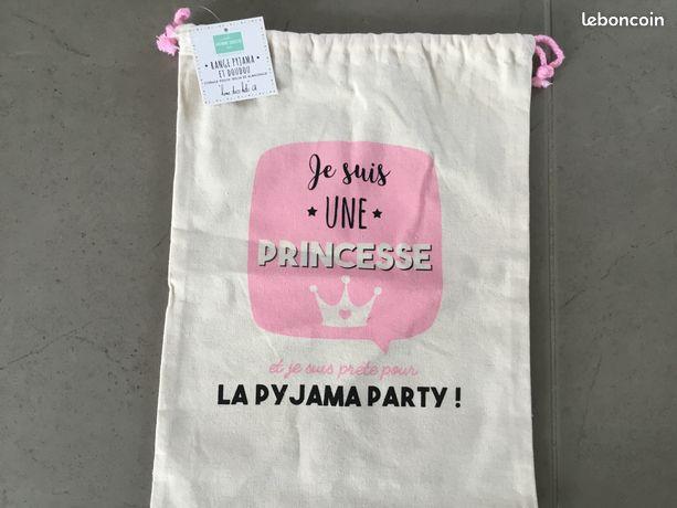 "Sac en toile, ""je suis une princesse"" NEUF"