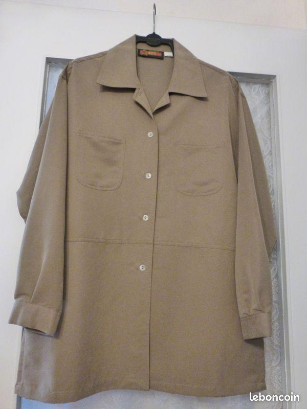 Chemise/ veste femme marron taille 38/40 tres bon etat