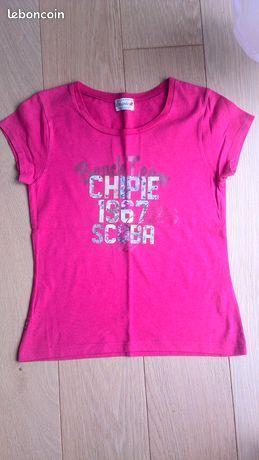 quality design 6716a 731bc Tshirt Chipie rose
