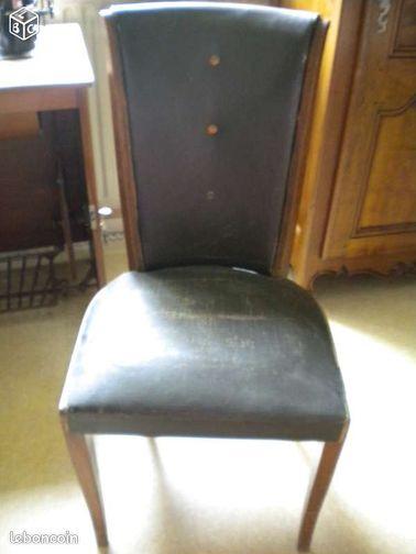 chaise fauteuil en noyer massif restaurer yd110 ameublement puy de d me. Black Bedroom Furniture Sets. Home Design Ideas