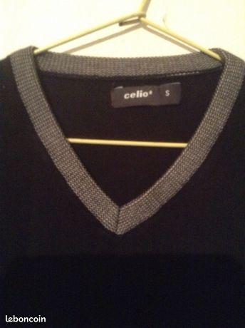 c2514575233e7 Pull Celio -homme- Noir -taille S -parfait état