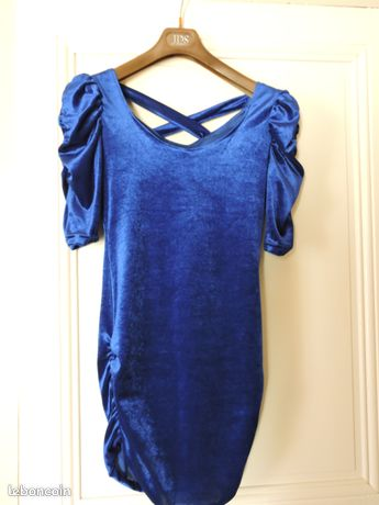 c1ff0ac219d Robe de soiree courte et SEXY bleu electrique