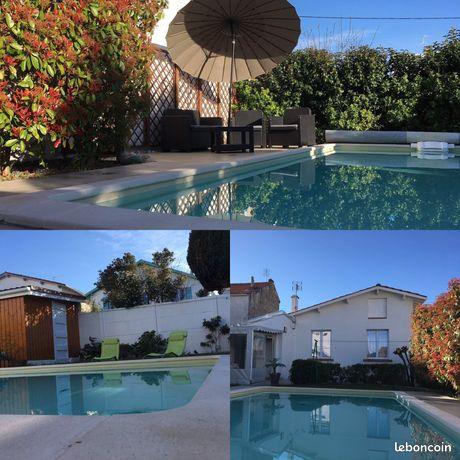 Maison 4-6 personnes Royan avec piscine