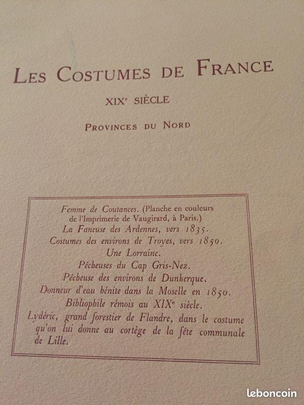 Gravures les costumes de france xix provinces du nord et sud