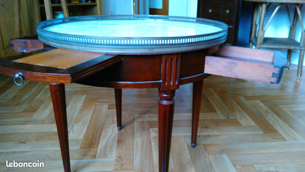 Table basse ancienne bouillotte style louisxvi