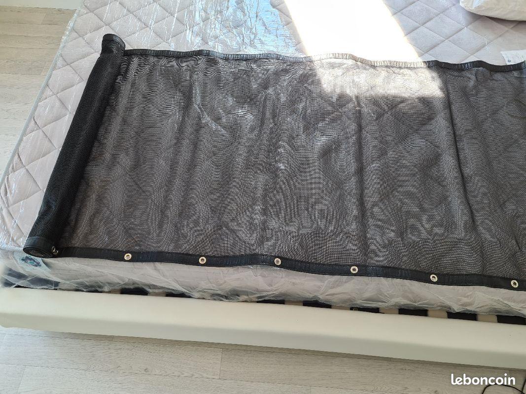 Protection clobalcon l300cm x h80cm coloris noir et aluminium