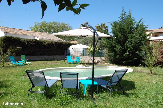 Appartement 4 pers/2 chs avec piscine juillet/août à partir de 65
