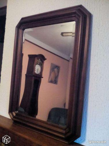 Miroir rustique ameublement gard for Miroir rustique