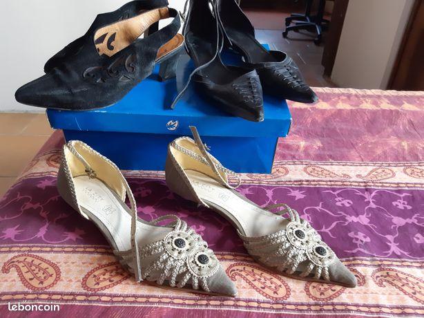3 paires de chaussures
