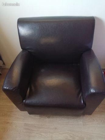 Neuf fauteuil cuir noir