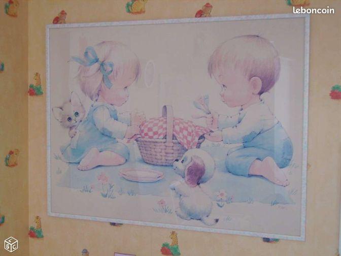 tr s beau cadre pour chambre enfant bebe cadeau d coration puy de d me. Black Bedroom Furniture Sets. Home Design Ideas