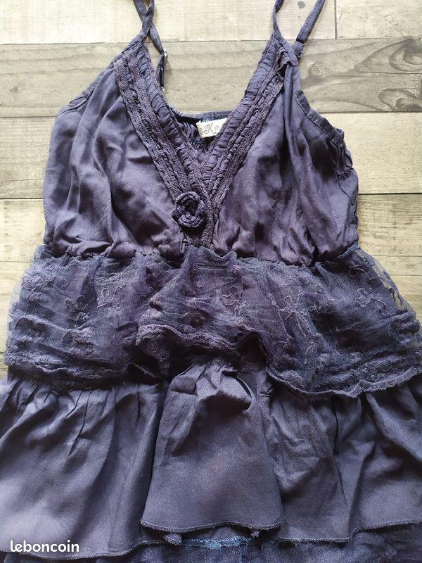 Robe bretelles bleu. 36