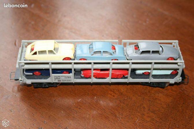 wagon porte auto jouef ho train sncf chemin de fer collection ni vre. Black Bedroom Furniture Sets. Home Design Ideas