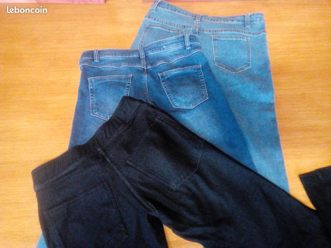 Jeans t s coton/ jogging bleu/ noir/ vêtements divers