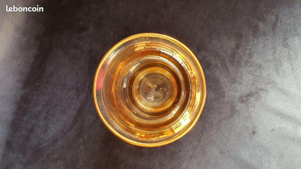 Grande vase vintage doré