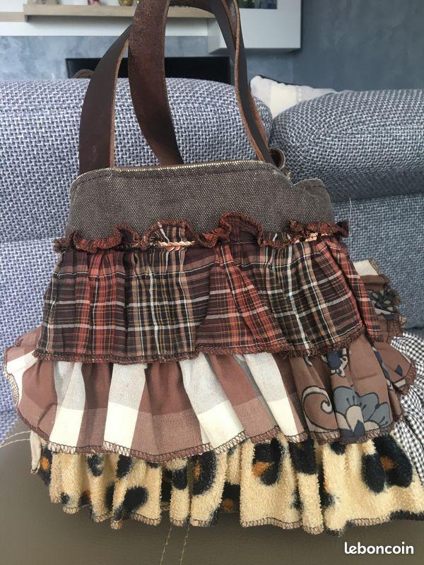 Vendre sac en cuir/tissu pomponette
