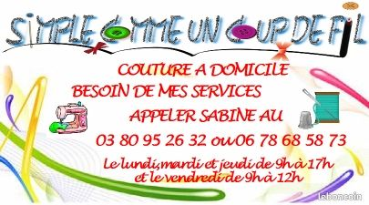 couture domicile prestations de services c te d 39 or