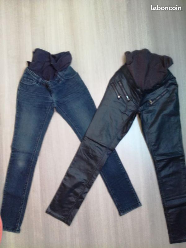 Lot pantalons maternité t.38 tbe