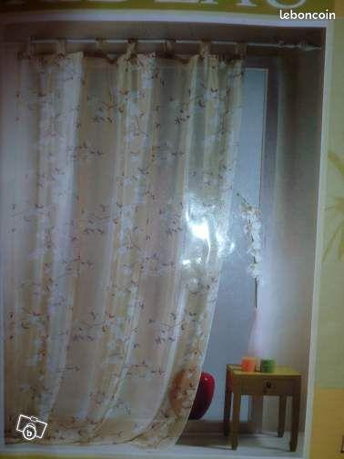 une paire de rideaux voilage savigny sur orge une paire de rideaux voile imprim s. Black Bedroom Furniture Sets. Home Design Ideas