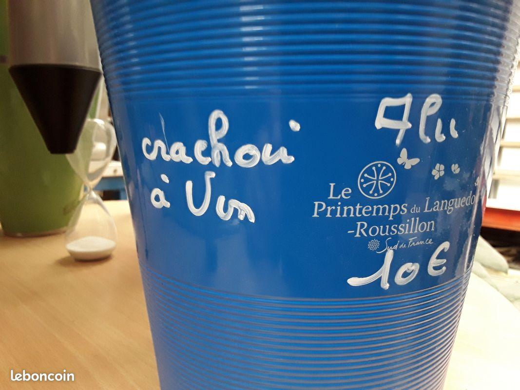 Crachoir à vin aluminium
