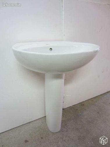lavabo sur pied pour salle de bain bricolage vosges. Black Bedroom Furniture Sets. Home Design Ideas