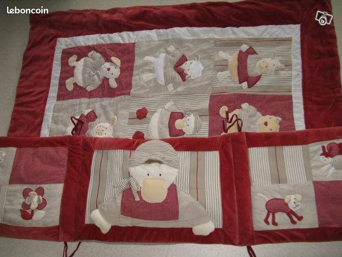 ensemble tour de lit couvre lit bb moulin roty equipement b b h rault. Black Bedroom Furniture Sets. Home Design Ideas