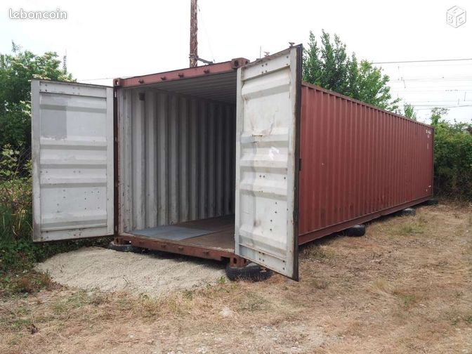 Container maritime 40 pieds 12 m tres dry transport for Container maritime prix