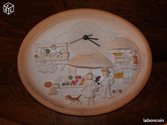 Pendule de cuisine en terre cuite d coration yvelines - Pendule de cuisine ...