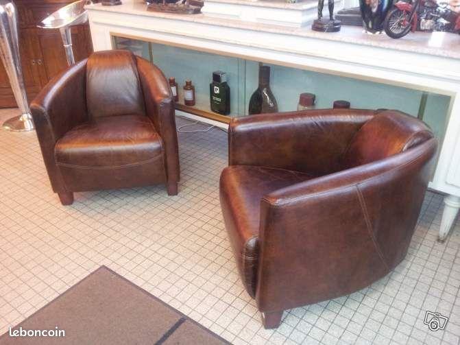 fauteuil club cuir occasion belgique