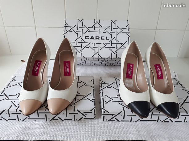 2 paires chaussures neuves CAREL bi-colores – P 37 1/2
