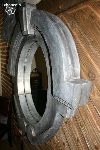 miroir oeil de boeuf en zinc d coration yvelines. Black Bedroom Furniture Sets. Home Design Ideas