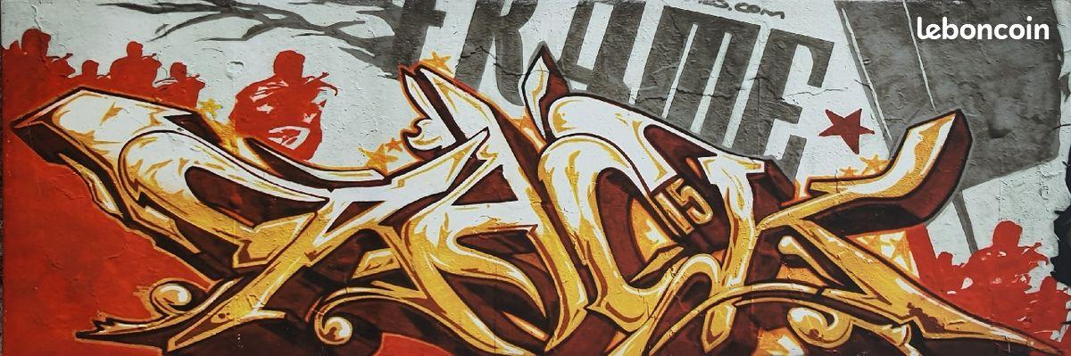 Tableau imprimé graffiti 40 par 140 cm