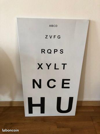 Plaque métal ophtalmologue
