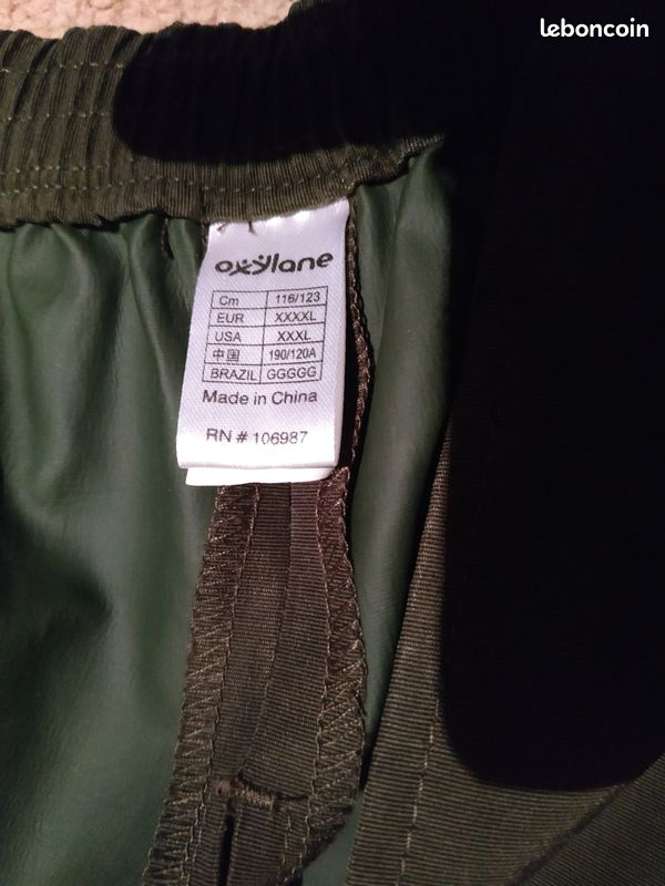 Surpantalon cuissard imperméable 4xl