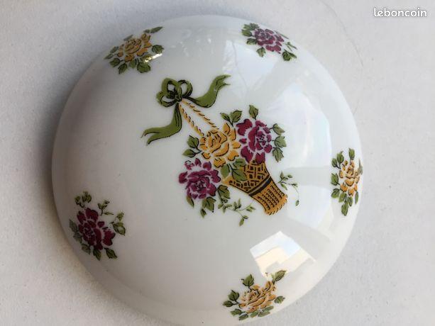 Boîte, Bonbonnière porcelaine de Limoges