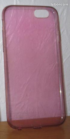 Coque silicone souple rose Iphone 6 ou 6S - Villeneuve-d'Ascq - coque silicone souple rose Iphone 6 ou 6S Pour voir mes annonces tapez DM59  - Villeneuve-d'Ascq