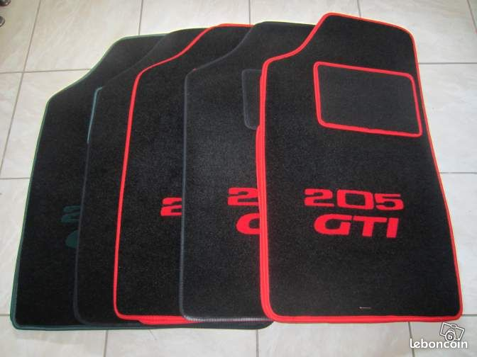 tapis velours 205 gti 205 rallye cti equipement auto essonne. Black Bedroom Furniture Sets. Home Design Ideas