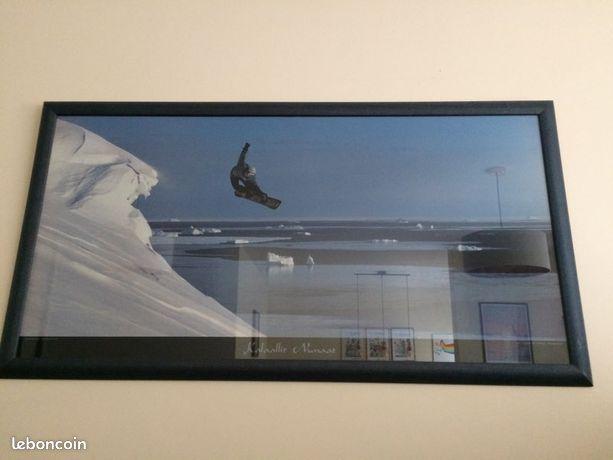 Poster snowboard encadré