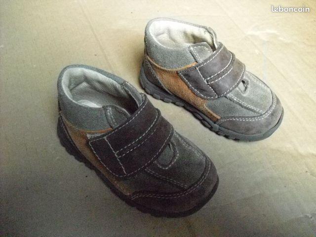 Chaussure garçon 21 - Fontaine-Milon - chaussure en nubuck P:21. contacter au 0241951625.  - Fontaine-Milon