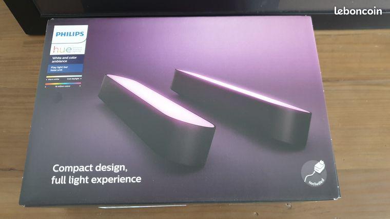 Philips Hue Play noires pack de 2 lampes neuves