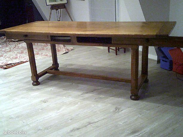 Table Bressane époque en merisier