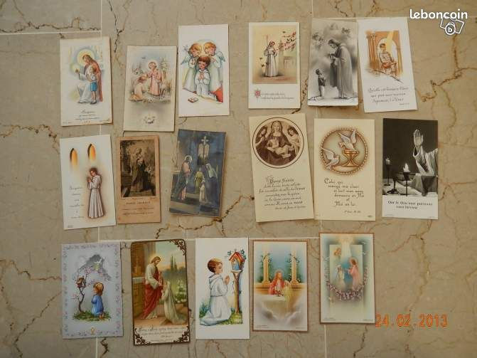 """17 images anciennes religieuses """"communion ect"""" - Lyon - 17 images anciennes religieuses """"communion ect"""" très bon état  - Lyon"""